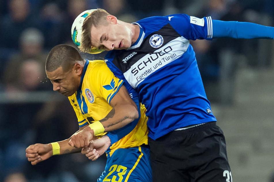 Für seinen Auftritt gegen Eintracht Braunschweig erntete DSC-Talent Henri Weigelt Lob vom Trainer.