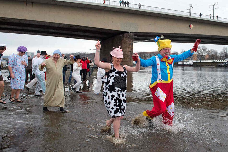 Ob Clown oder Kuh, die Teilnehmer ließen sich lustige Outfits einfallen.