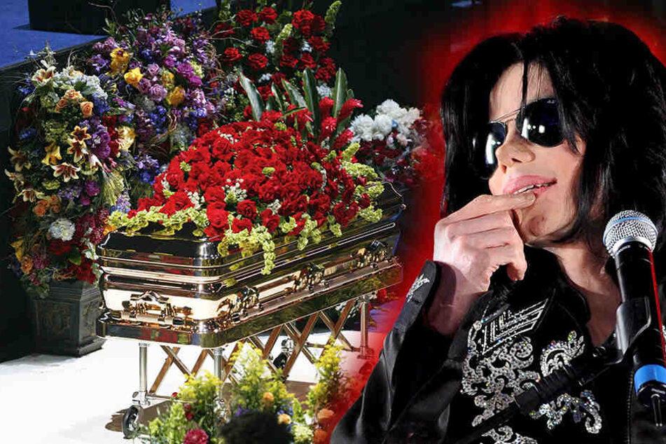 Schon während der Trauerfeier am 7. Juli in Los Angeles soll der Sarg leer gewesen sein. (Bildmontage)