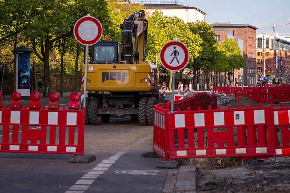 Auch ein Abschnitt der Prager Straße wird für mehrere Wochen wieder zur Baustelle. (Archivbild)
