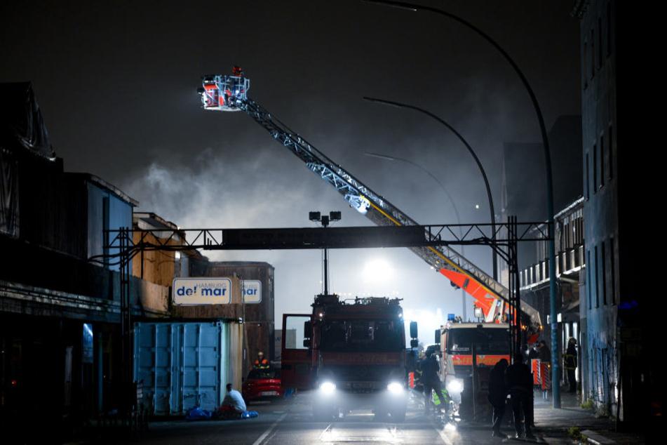 """Zum zweiten Mal hat es im Hamburger Beach-Club """"Hamburg Del Mar"""" heftig gebrannt."""
