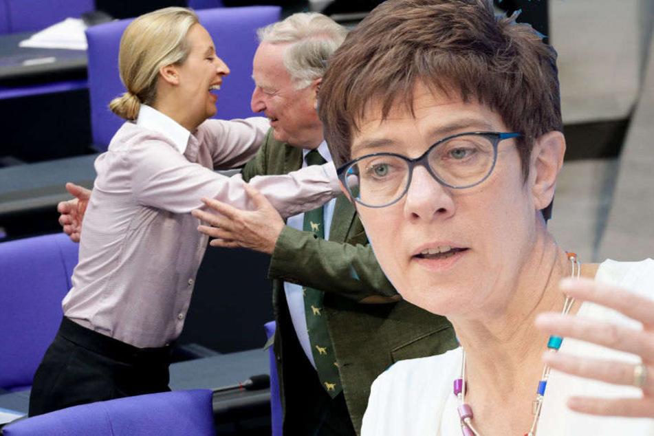 Nach heftiger Debatte: Kramp-Karrenbauer schießt gegen die AfD