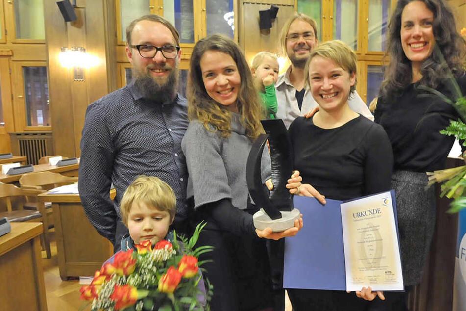 Den ersten Preis des Chemnitzer Friedenspreises erhielten die Akteure  von ASA-FF – Netzwerk für globales Lernen.