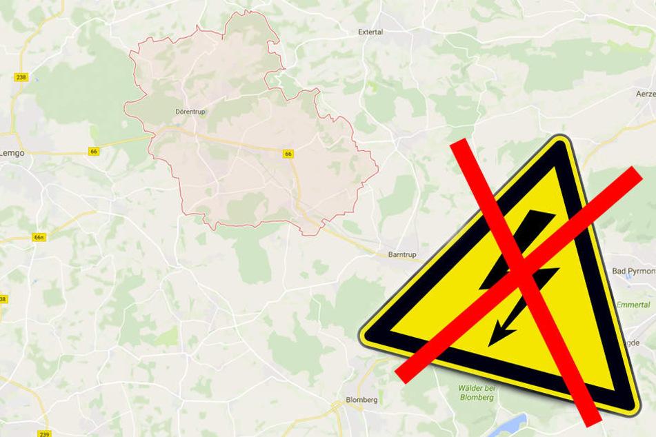 In Lemgoer Ortsteil Dörentrup haben über 100 Bewohner bis 17 Uhr kein Strom!