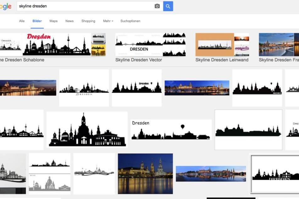 Auffällig: Gibt man bei Google als Suchbegriff Skyline Dresden ein, dann taucht das falsche Motiv mehrfach auf.