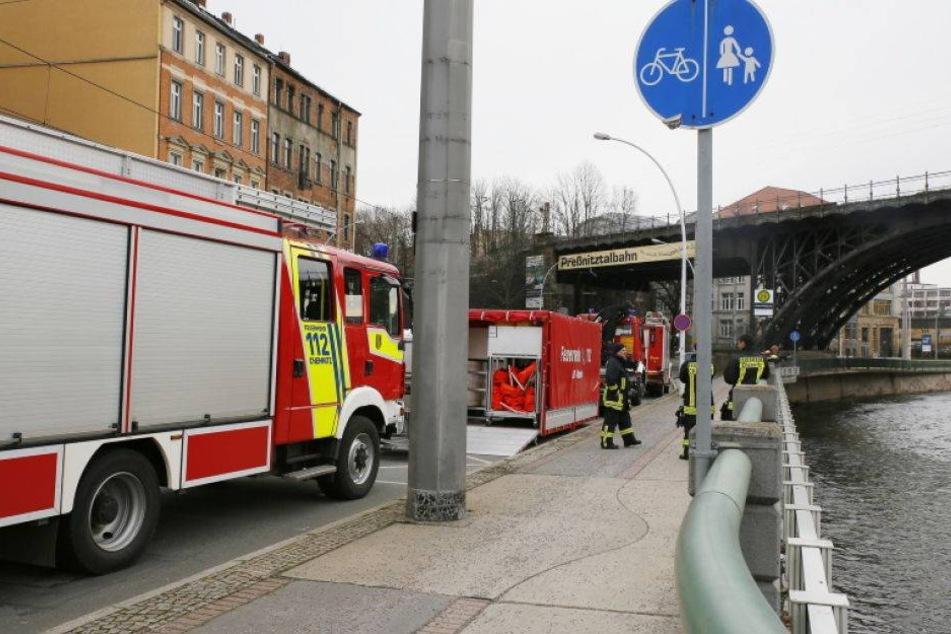 Kanal voll! Öl-Alarm auf der Chemnitz