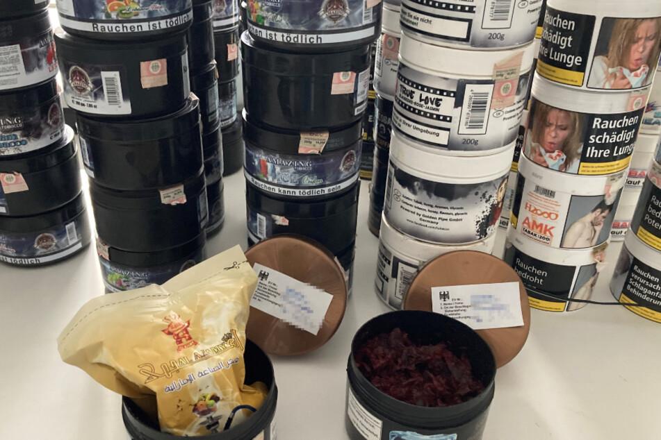 Zoll beschlagnahmt 432 Kilogramm Wasserpfeifentabak
