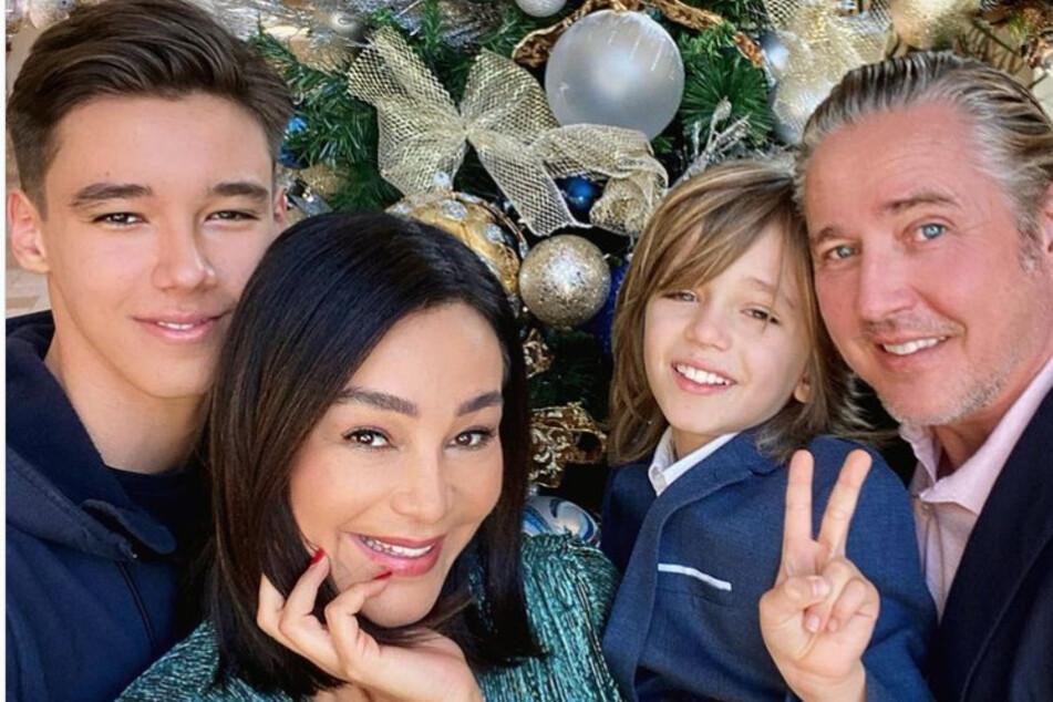 San Diego (17) , Verona Pooth (52), Rocco (9) und Ehemann Franjo (51).