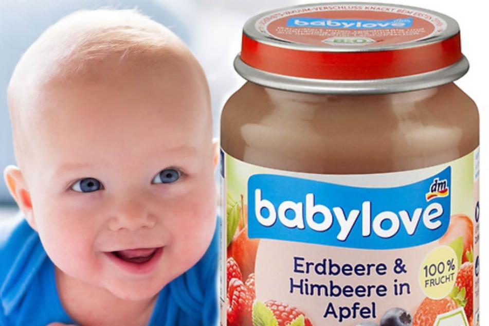 """Das Produkt """"Babylove -Früchte Erdbeere und Himbeere in Apfel"""" ist von der Rücknahme betroffen. (Symbolbild/Bild der Babynahrung)"""
