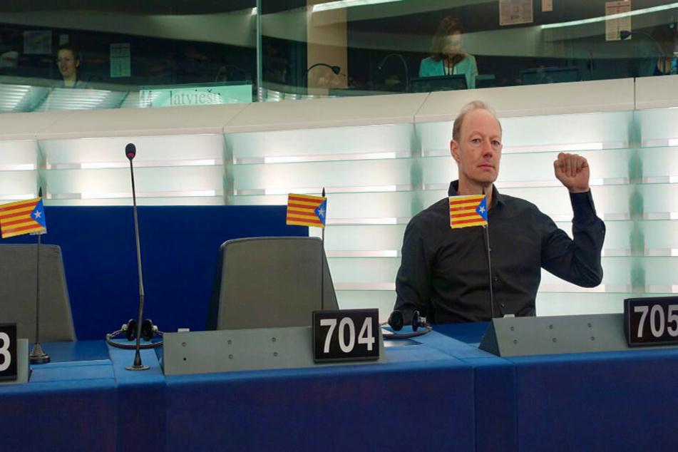 Martin Sonneborn im EU-Parlament.