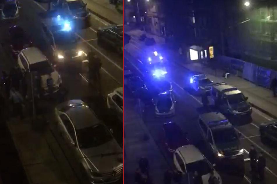 Am Abend kam es in der Dresdner City zu einem Einsatz der Polizei.