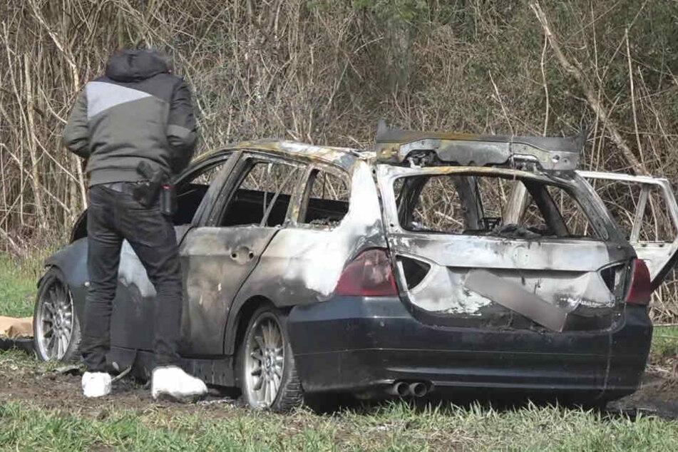 Zwei Männer sollen den BMW nach einem Überfall auf einem Geldtransporter zur Flucht genutzt haben.