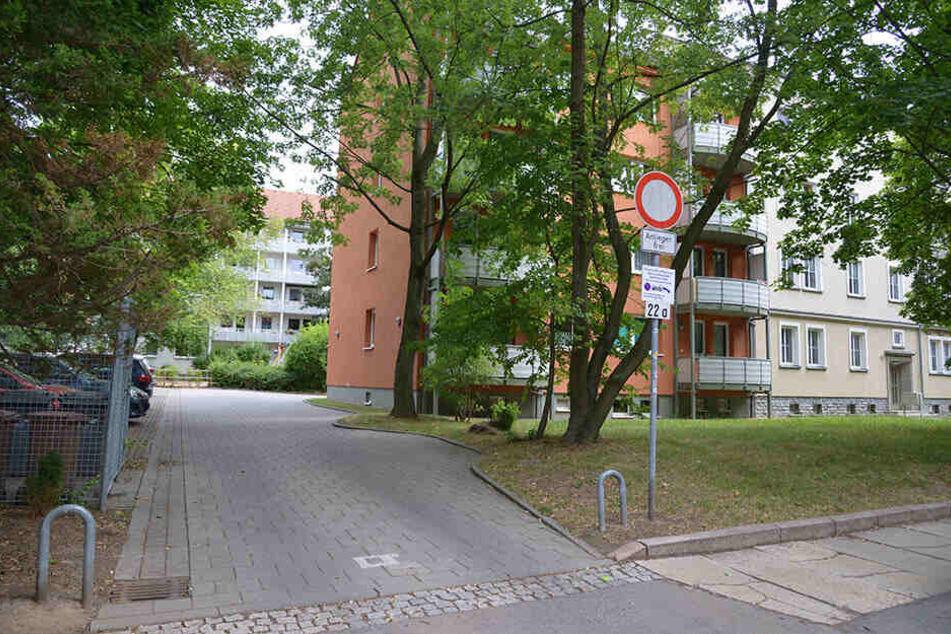 Mit Küchenmesser und Zweitschlüssel verschaffte sich der Chemnitzer Zutritt in die Wohnung des Opfers in der Andréstraße und zwang es, ins Auto zu steigen.