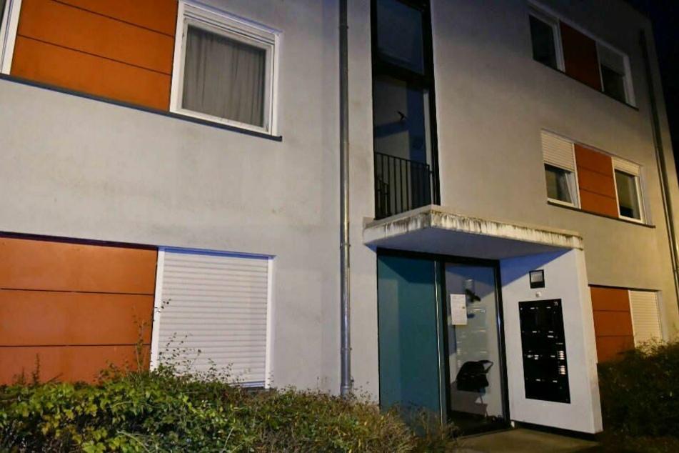 In diesem Mehrfamilienhaus in Darmstadt-Eberstadt wurde die zerstückelte Frauenleiche gefunden.