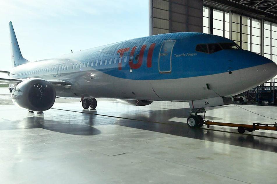 Eine Boeing 7373 Max von Tui Fly.