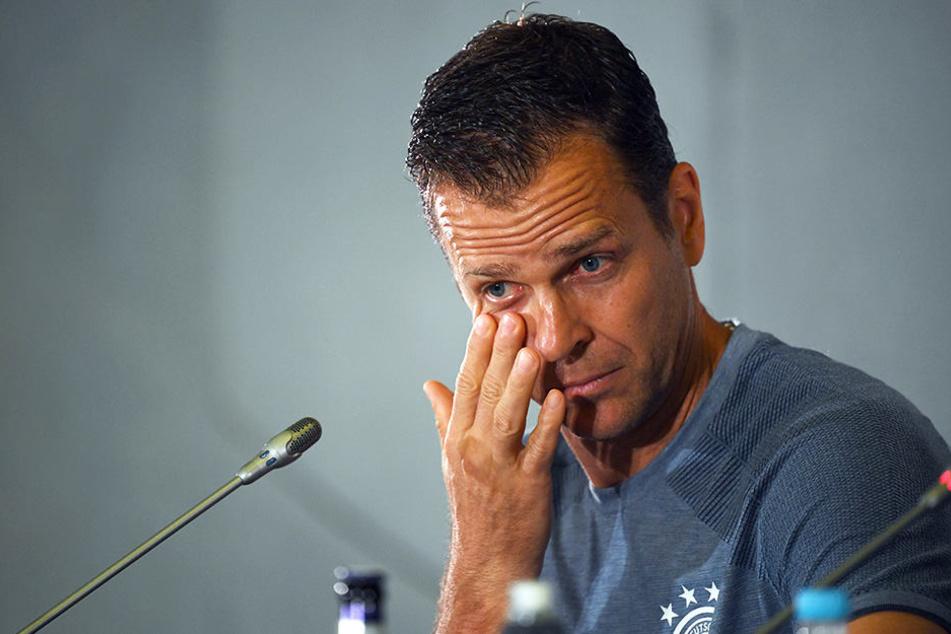 DFB-Manager Oliver Bierhoff traf auf der Pressekonferenz aus Sotschi klare Aussagen.