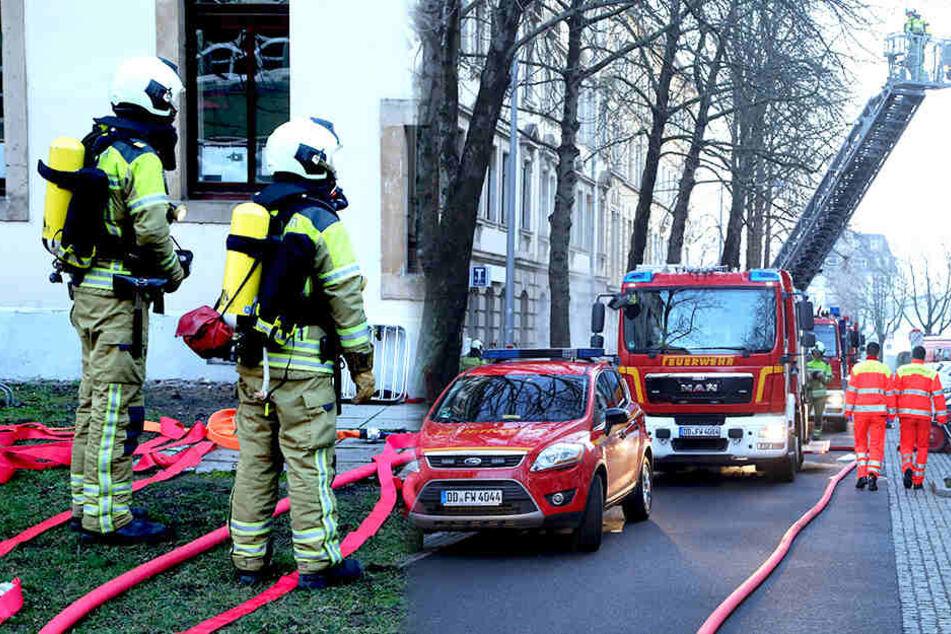 Feuerwehr-Einsatz in Dresden: Was brennt hier?