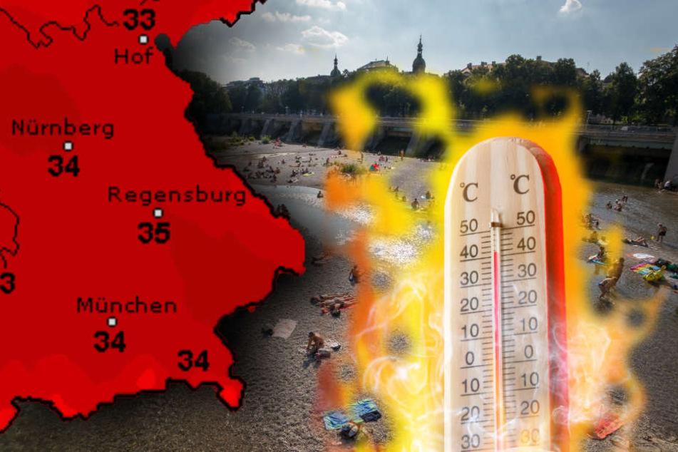 In München kann man sich bei hohen Temperaturen in der Isar abkühlen.