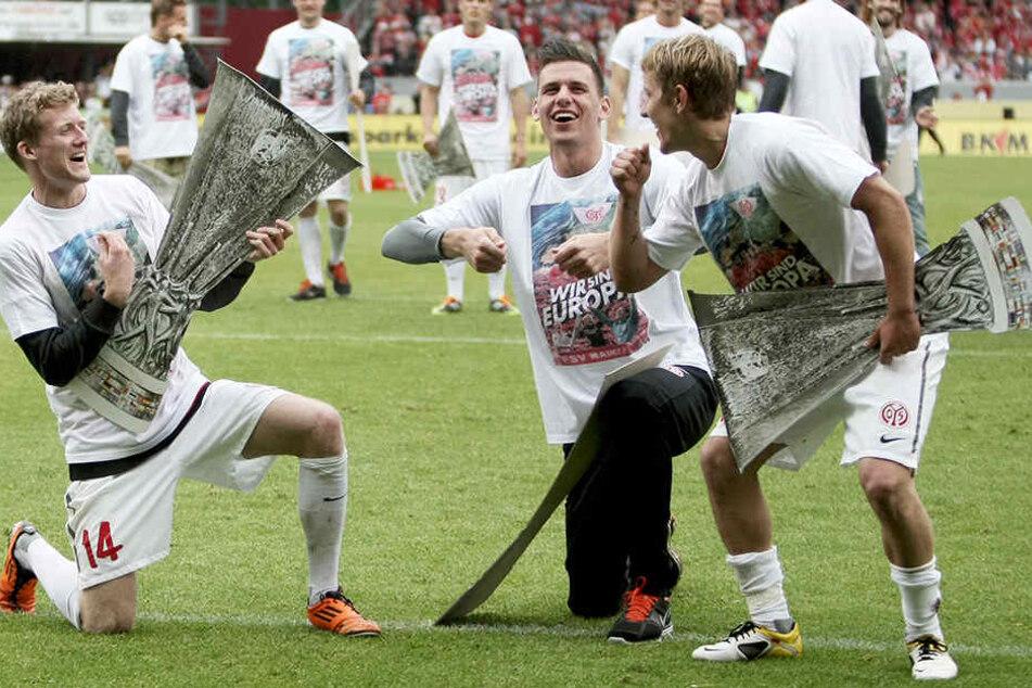 Mischten die 1. Bundesliga mit dem 1. FSV Mainz 05 gehörig auf: Die Mainzer Boygroup André Schürrle (l.), Adam Szalai (Mitte) und Lewis Holtby (rechts).