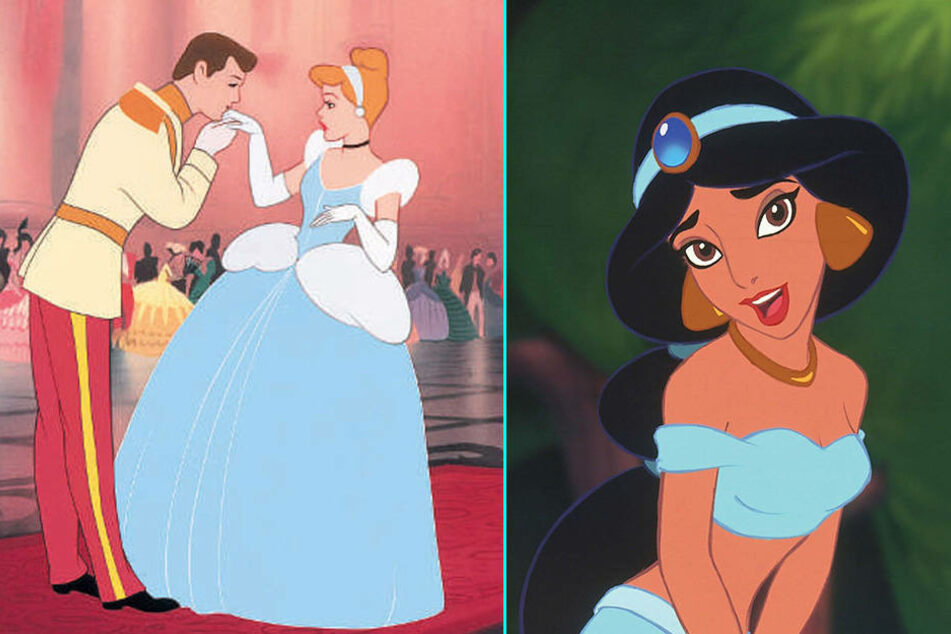 """Egal ob Cinderella (links) oder Prinzessin Jasmin aus """"Alladin"""": Sie tragen blau!"""