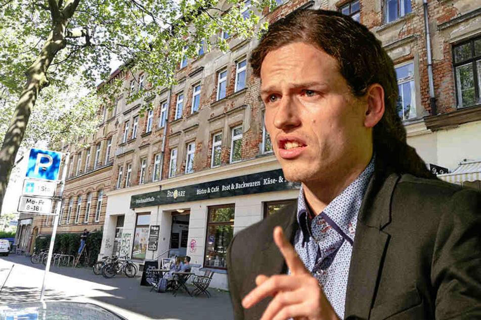 Jürgen Kasek unterstützt die Mieter des Hauses Karl-Heine-Straße 45 beim Rechtsstreit.