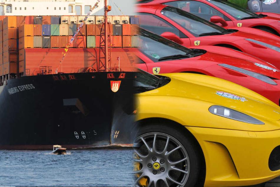 Luxusautos gestohlen, zerlegt und per Container ins Ausland vertickt