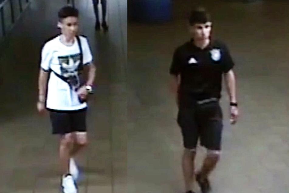 Die beiden Screenshots aus dem Video zeigen zwei der Gesuchten Jugendlichen.