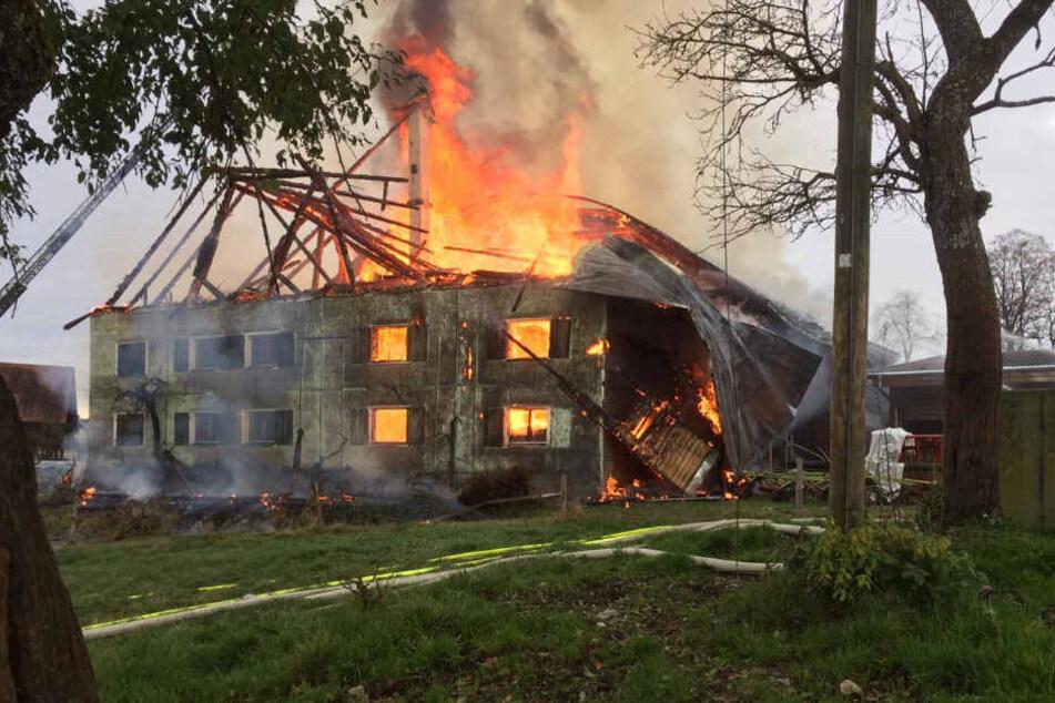 Mehrere hunderttausend Euro Schaden richtete das Feuer an.