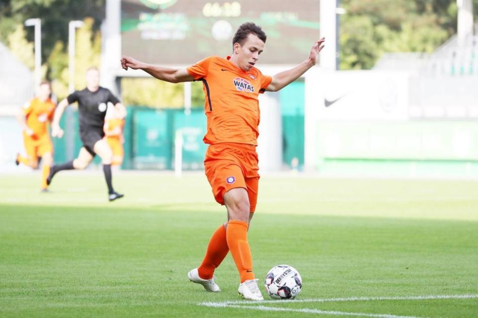 In Aue bestritt Maximilian Pronichev (21) kein Ligaspiel.