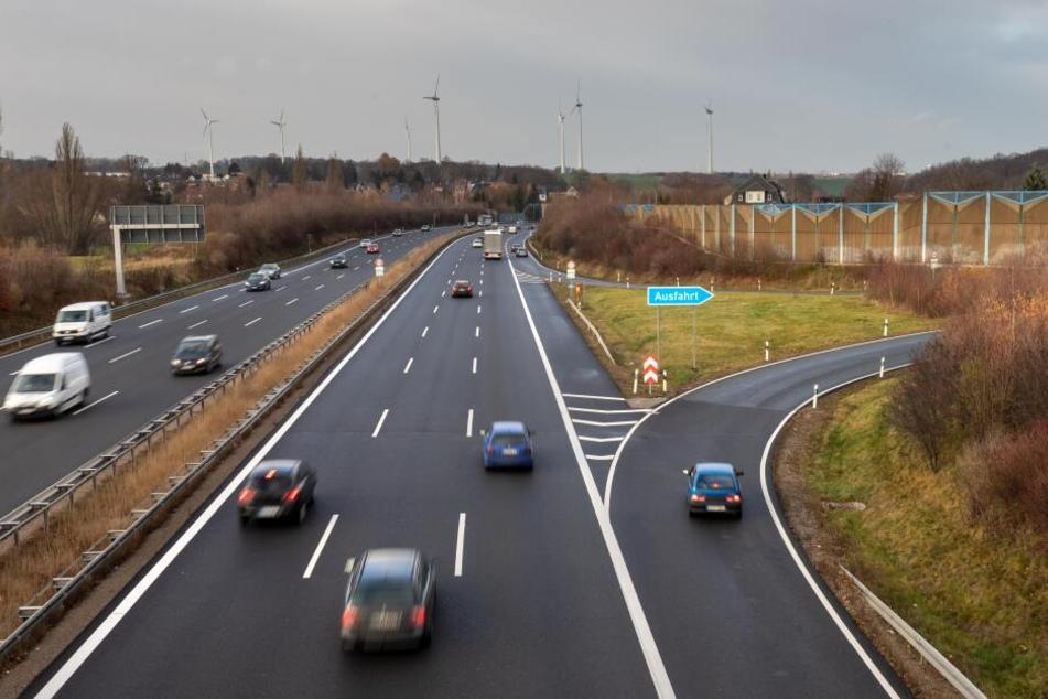 Auch die Abfahrt von der A72 aus Richtung Leipzig auf die Kalkstraße ist in der Bauphase nicht möglich.