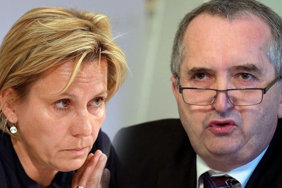 Bleiben im Amt: Sozial- und Gesundheitsministerin Barbara Klepsch und Thomas Schmidt, Minister für Umwelt- und Landwirtschaft.