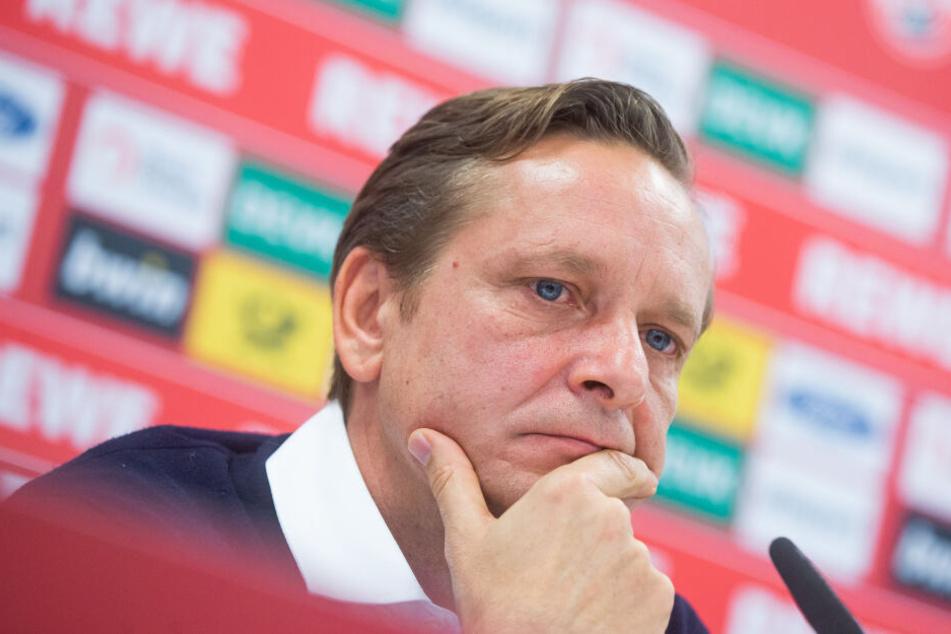 Horst Heldt bei seiner Vorstellung als neuer Sportdirektor des 1. FC Köln am 19. November.