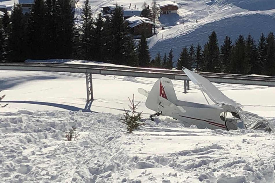 Kleinflugzeug in den Alpen abgestürzt: Zwei Personen schwer verletzt