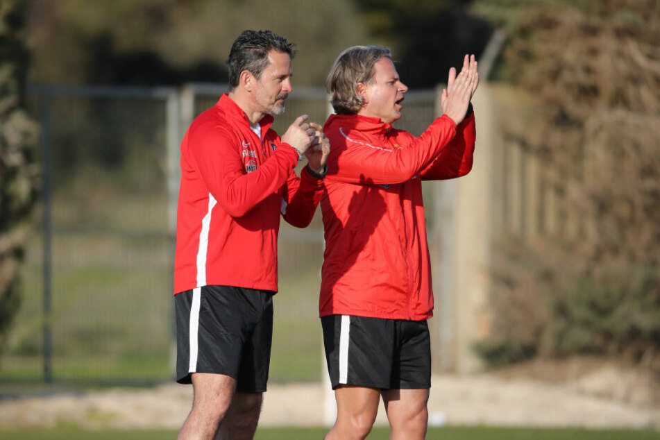 Co-Trainer Sascha Franz im Trainingscamp des FC Erzgebirge Aue in Novo Sancti Petri.