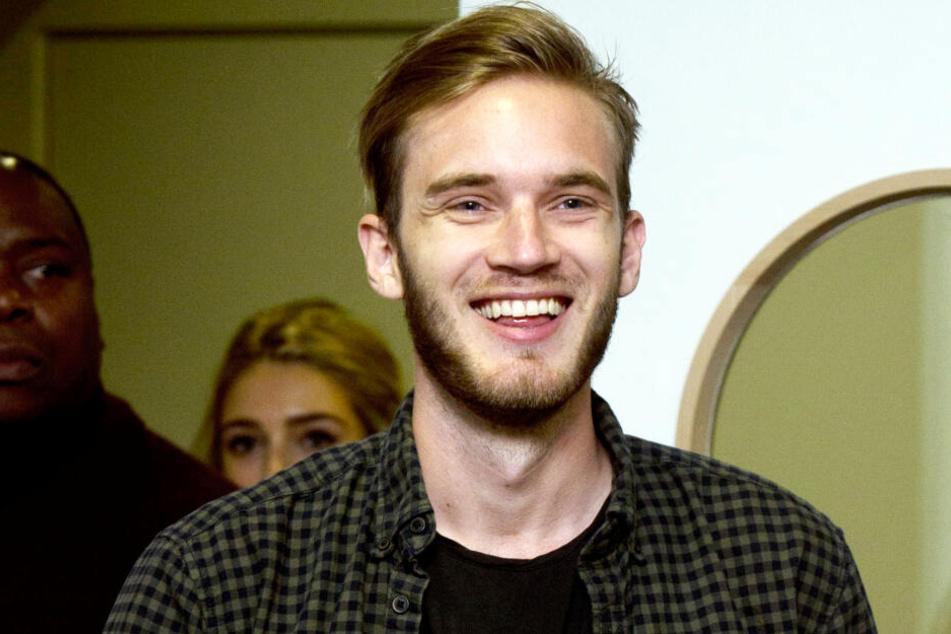 PewDiePie, YouTube-Star aus Schweden, aufgenommen während einer Vorstellung seines Buches in London. (Archivbild)