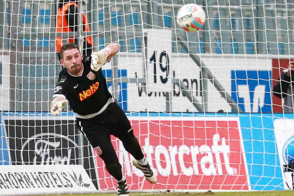 Philipp Penkte ließ am Sonnabend keinen Ball in das Regensburger Tor.