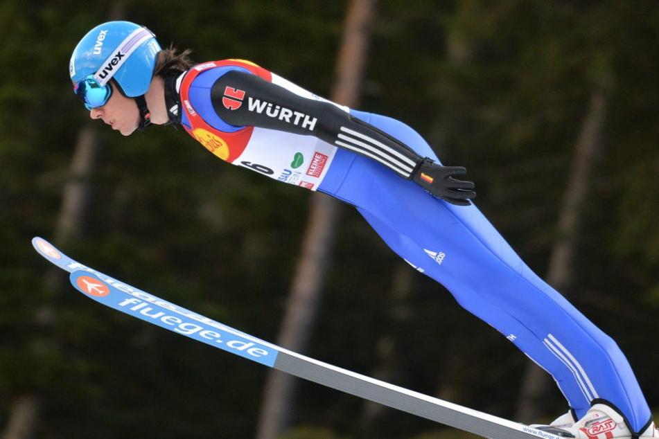 Eine Teildisziplin der Nordischen Kombination ist Skispringen