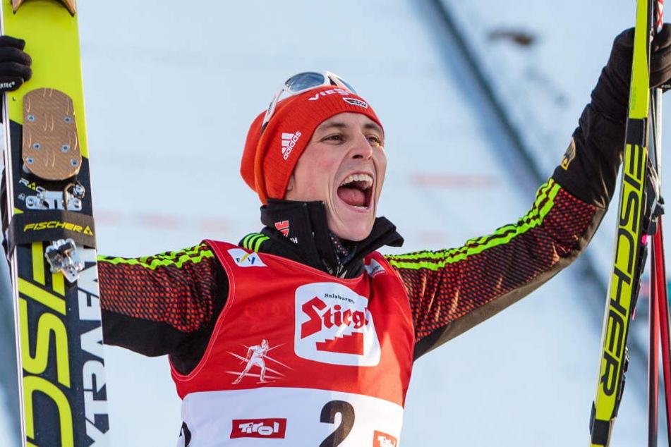 Eric Frenzel konnte sich bei der Nordischen Ski-WM über Gold mit der Mannschaft und im Teamsprint freuen.