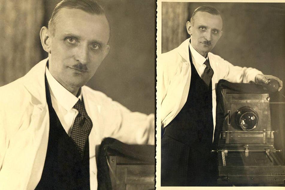 Annes Urgroßvater Georg Klemm eröffnete 1919 das Atelier. Er fotografierte noch mit einer großen Plattenkamera.