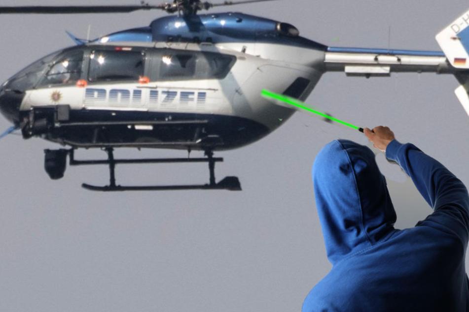 Männer blenden Polizeihubschrauber mit Laserpointer und begehen dämlichen Fehler