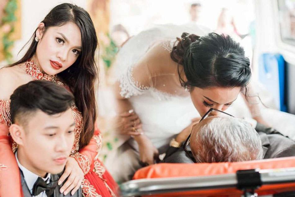 Ein unvergesslicher Moment: Charlotte küsst ihren schwer kranken Vater auf die Stirn.