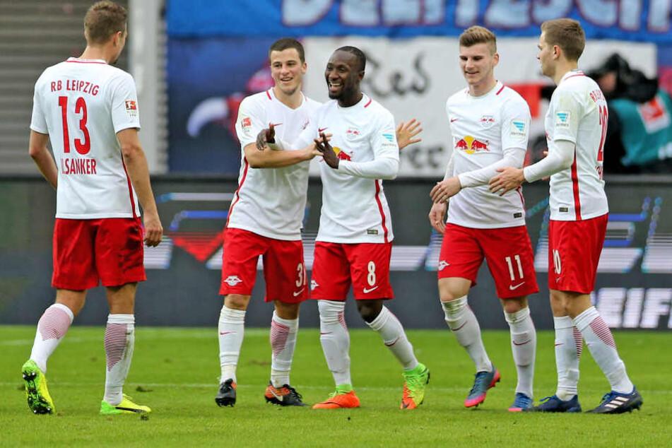 Emil Forsberg, Diego Demme, Bernardo und Ibrahima Konaté werden am Sonntag  definitiv nicht auf dem Rasen stehen.