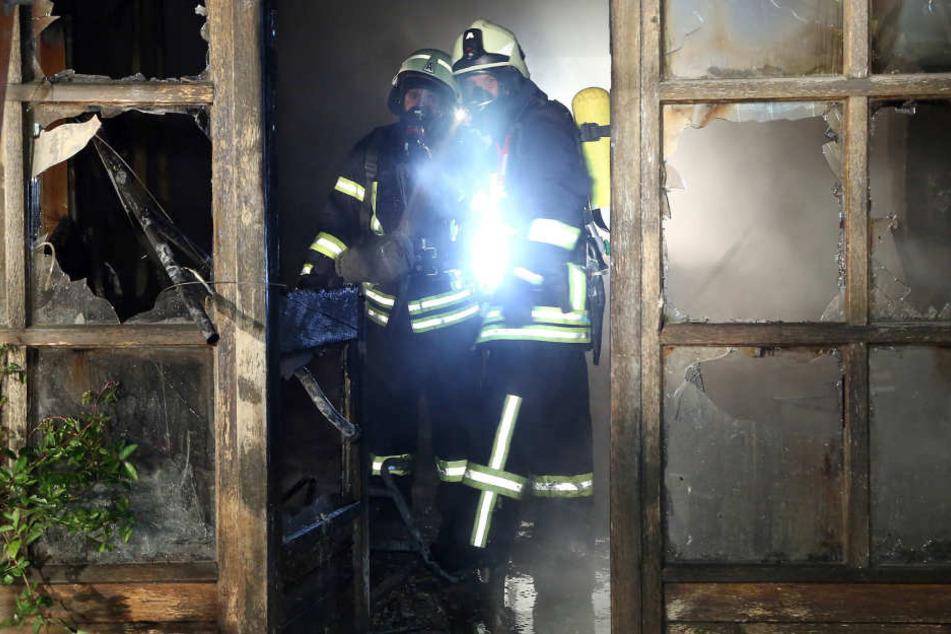 Einige Räume des Gutshofes Frohberg brannten komplett nieder.