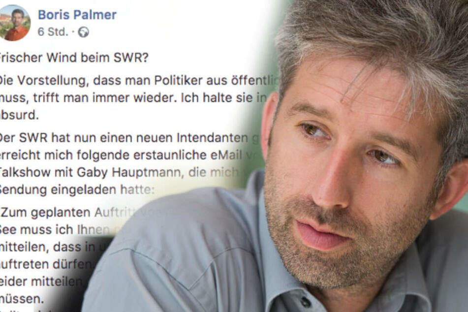 Neue Ansage?! Boris Palmer aus SWR-Talkshow ausgeladen!