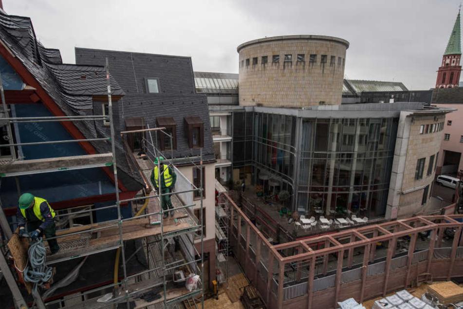 Auch in der Frankfurter Altstadt entstehen neue, aber nicht günstige Wohnungen.