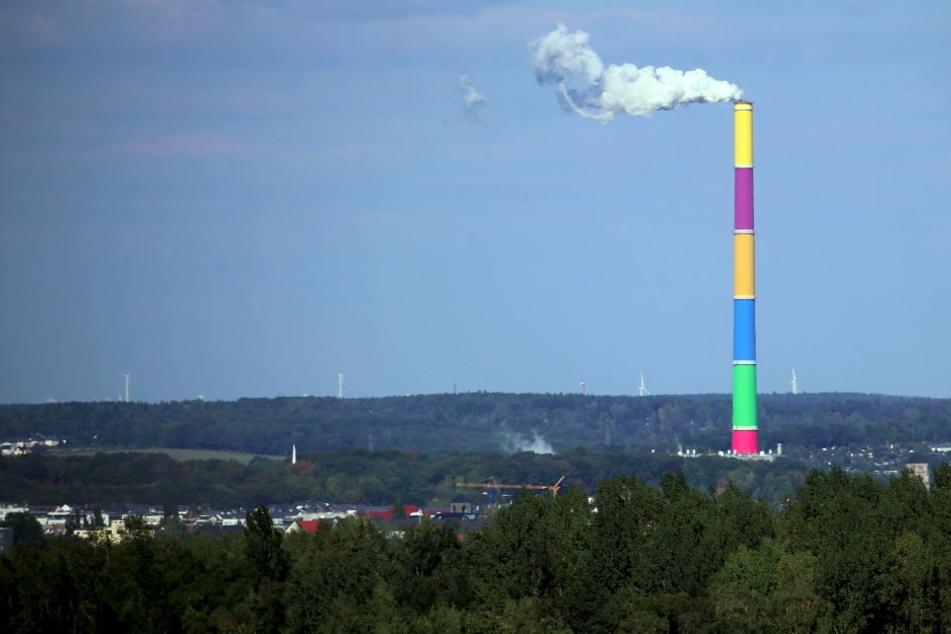 Das höchste Bauwerk Sachsens wird nach Plänen des Künstlers Daniel Buren farbig gestaltet.