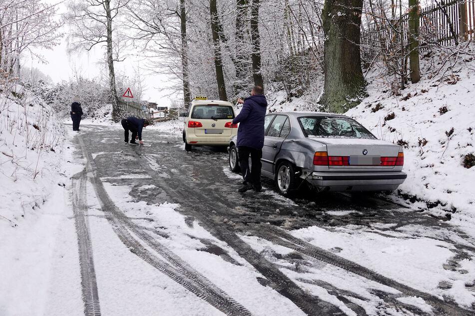 Auch in Chemnitz sorgte der erneute Wintereinbruch für Unfälle.