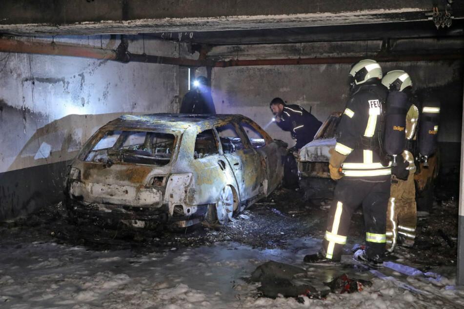 Das Fluchtauto wurde in einer Garage in Dresden-Pieschen angezündet.