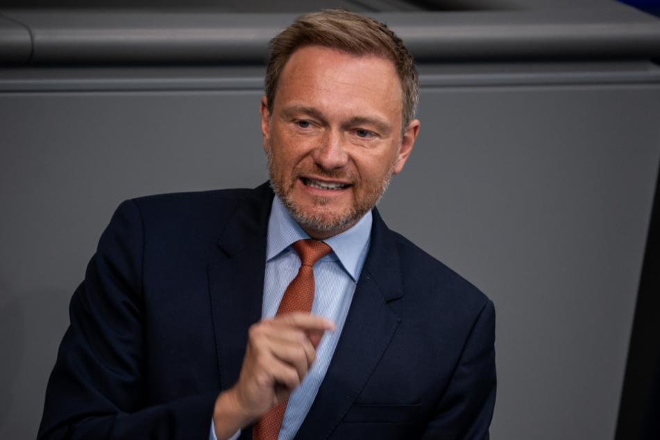 FDP-Chef Christian Lindner (41) im Bundestag.
