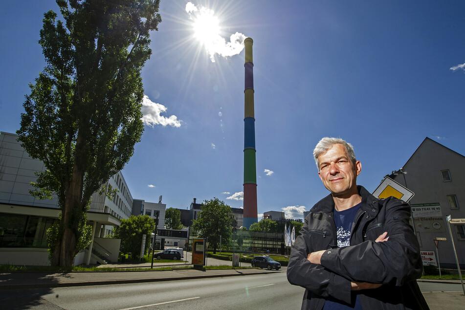 Stadtrat Volkmar Zschocke (51, Grüne) will nicht, dass im Heizkraftwerk Chemnitz-Nord unvorbehandelter Restmüll verfeuert wird.
